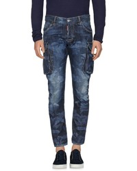 blaue Camouflage Jeans