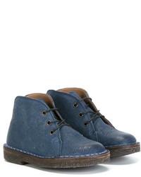 blaue Chukka-Stiefel aus Leder von Pépé