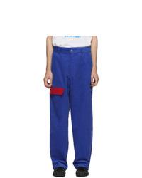 blaue Cord Chinohose