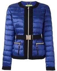 blaue Daunenjacke von Versace