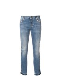 blaue enge Jeans mit Destroyed-Effekten von Ermanno Scervino
