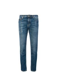 blaue enge Jeans mit Destroyed-Effekten von Golden Goose Deluxe Brand