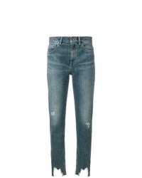 blaue enge Jeans mit Destroyed-Effekten von IRO