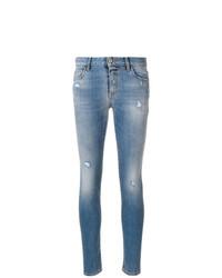 blaue enge Jeans mit Destroyed-Effekten von Just Cavalli