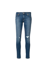 blaue enge Jeans mit Destroyed-Effekten von Levi's