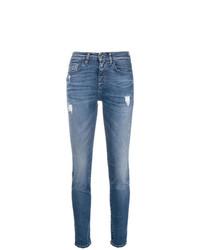 blaue enge Jeans mit Destroyed-Effekten von Pinko