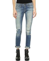 blaue enge Jeans mit Destroyed-Effekten von Rag and Bone