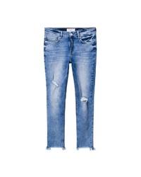 blaue enge Jeans mit Destroyed-Effekten von Violeta BY MANGO