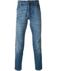 Blaue enge jeans original 4565604