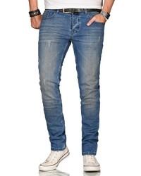 blaue enge Jeans von Alessandro Salvarini