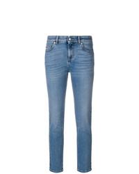 blaue enge Jeans von Alexander McQueen