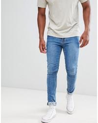 blaue enge Jeans von ASOS DESIGN