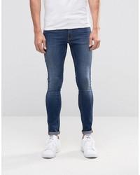 blaue enge Jeans von Asos