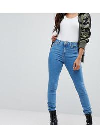 blaue enge Jeans von Asos Petite