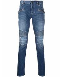 blaue enge Jeans von Balmain