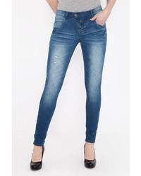 blaue enge Jeans von BLUE MONKEY