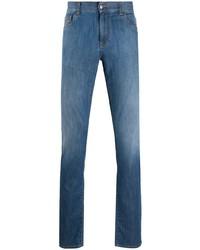 blaue enge Jeans von Canali