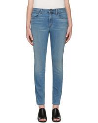 blaue enge Jeans von Helmut Lang