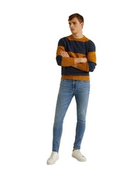 blaue enge Jeans von Mango Man