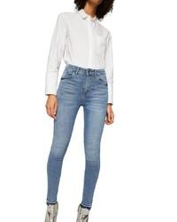 blaue enge Jeans von Mango