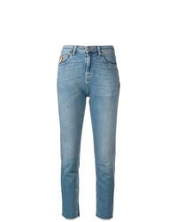 blaue enge Jeans von Mira Mikati