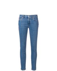 blaue enge Jeans von Miu Miu