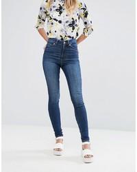 blaue enge Jeans von Monki