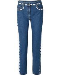 blaue enge Jeans von Moschino