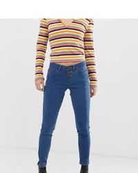 blaue enge Jeans von Noisy May Petite