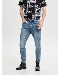 blaue enge Jeans von ONLY & SONS