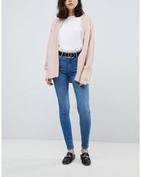 blaue enge Jeans von Pieces