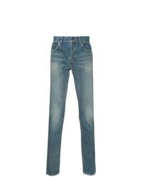 blaue enge Jeans von Saint Laurent