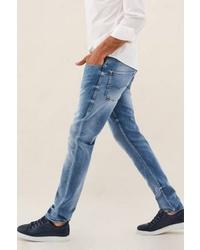 blaue enge Jeans von SALSA