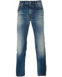 blaue enge Jeans von Stone Island
