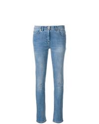 blaue enge Jeans von Versace