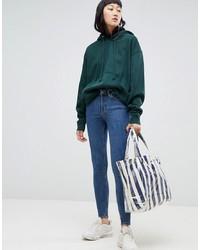 blaue enge Jeans von Weekday