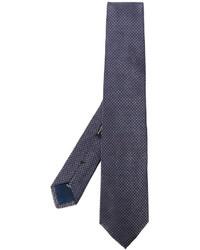 blaue geflochtene Seidekrawatte von Corneliani