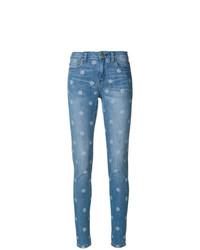 blaue gepunktete enge Jeans von MICHAEL Michael Kors