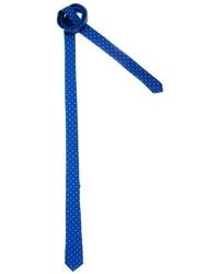 blaue gepunktete Krawatte von Asos