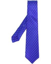 blaue gepunktete Krawatte von Kiton