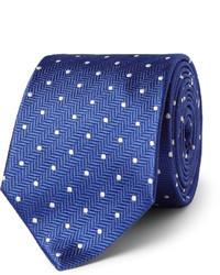 blaue gepunktete Krawatte von Turnbull & Asser