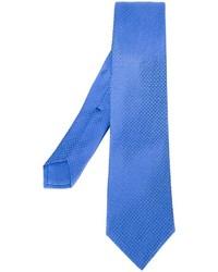 blaue gepunktete Seidekrawatte von Kiton