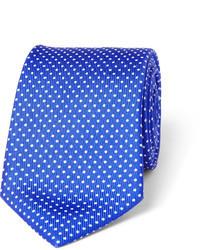 blaue gepunktete Seidekrawatte von Turnbull & Asser