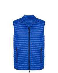 blaue gesteppte ärmellose Jacke von Emporio Armani
