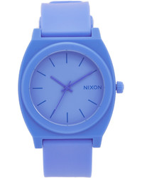 blaue Gummi Uhr von Nixon