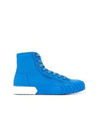 blaue hohe Sneakers aus Segeltuch von Both