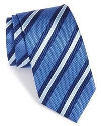 blaue horizontal gestreifte Krawatte