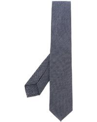 blaue horizontal gestreifte Krawatte von Barba