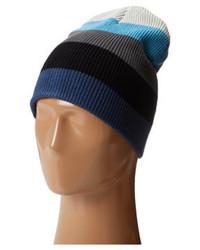 blaue horizontal gestreifte Mütze