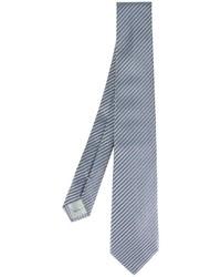 blaue horizontal gestreifte Seidekrawatte von Armani Collezioni
